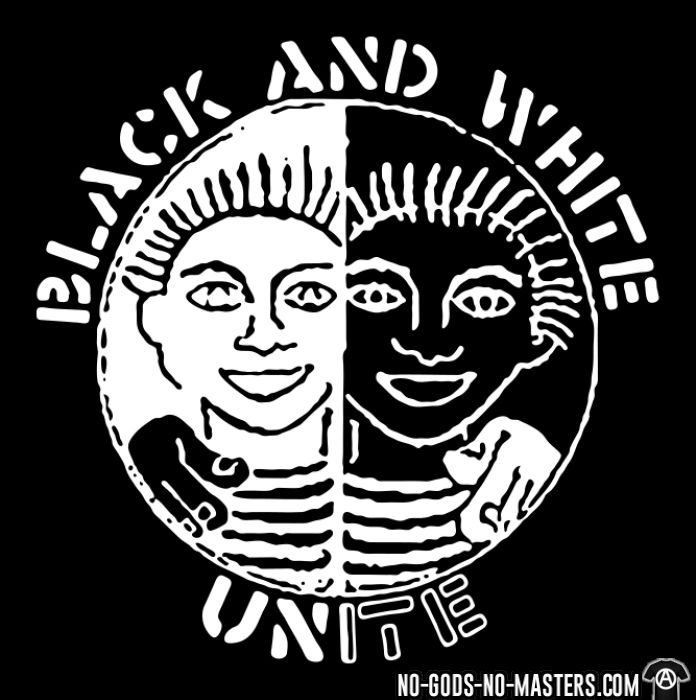 Black and white unite - T-shirt Anti-Fasciste