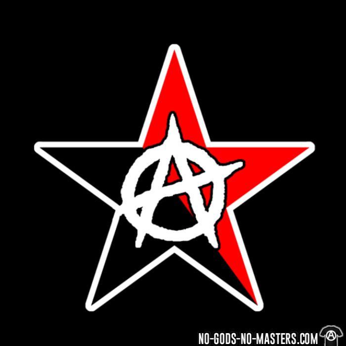 Black & Red Anarchist Star - T-shirt Militant