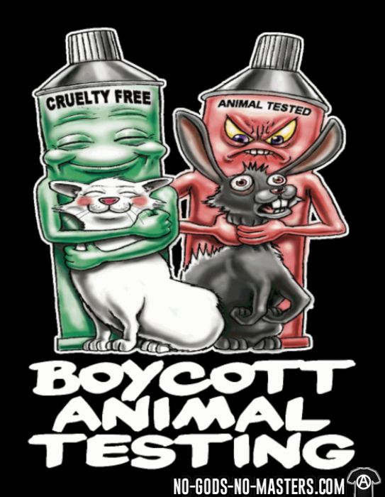 Boycott animal testing - T-shirt véganes et libération animale
