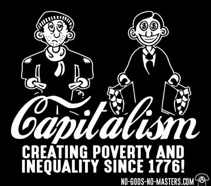 Capitalism - Creating poverty and inequality since 1776! - Sweat zippé humour engagé