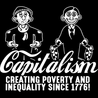 Capitalism - Creating poverty and inequality since 1776! - T-shirt humour engagé