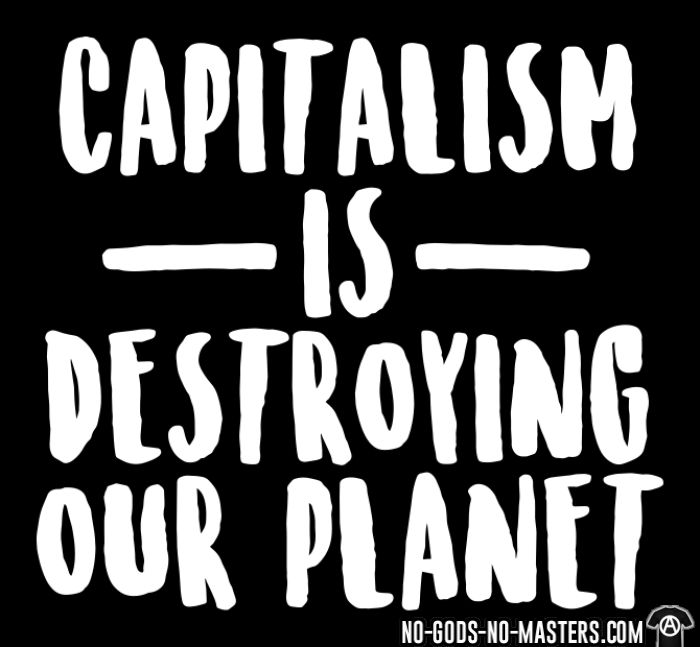 Capitalism is destroying our planet - T-shirt Environnementaliste