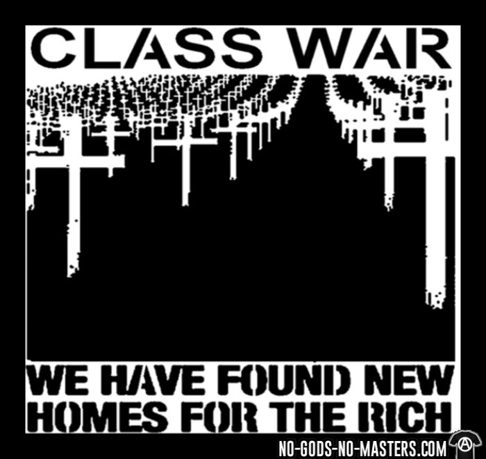 Class war - we have found new homes for the rich - Sweat zippé Working Class