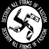Destroy all forms of fascism - Sweat zippé Militant