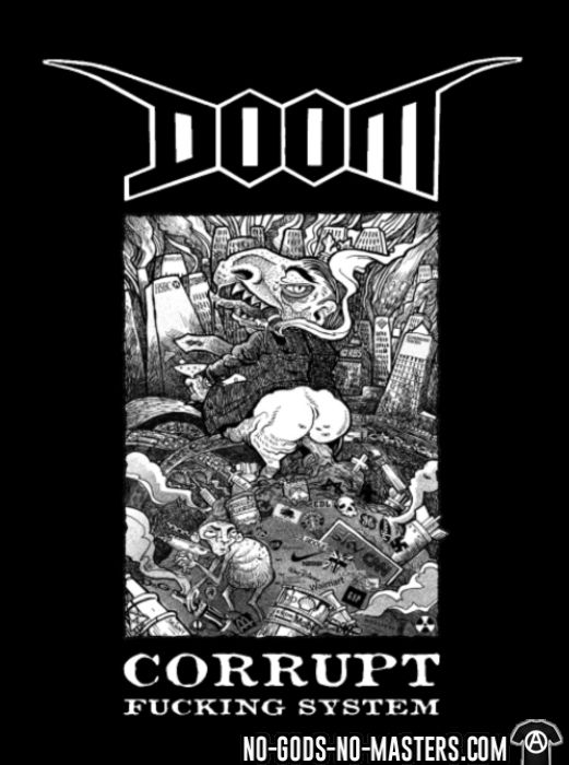 Doom - Corrupt fucking system - T-shirt Band Merch