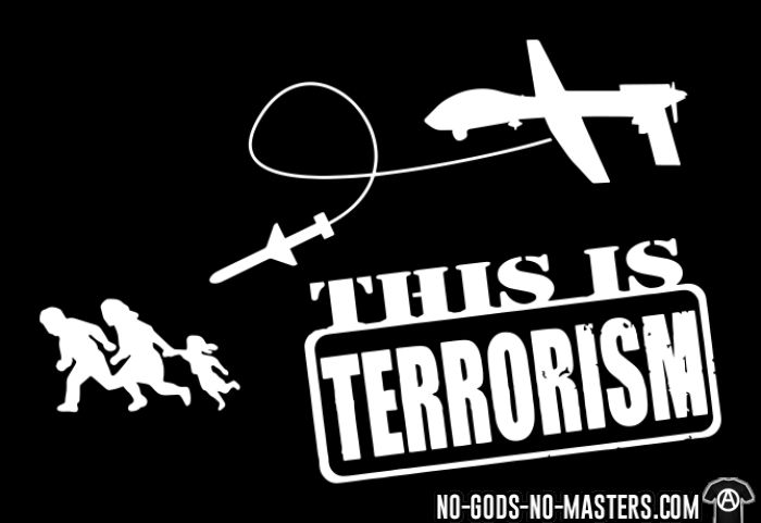 Drones: this is terrorism - Sweat à capuche (Hoodie) anti-guerre