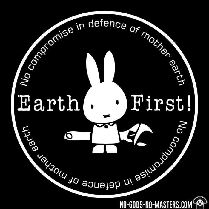 Earth first! no compromise in defence of mother earth - Sweat à capuche (Hoodie) Environnementaliste