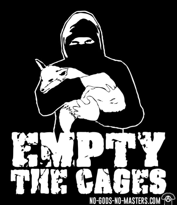 Empty the cages - T-shirt véganes et libération animale
