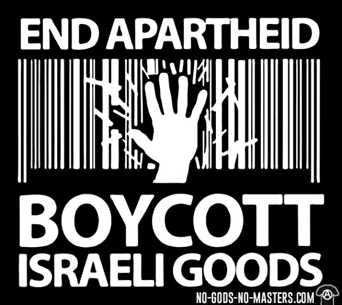 End apartheid boycott Israeli goods - T-shirt anti-guerre