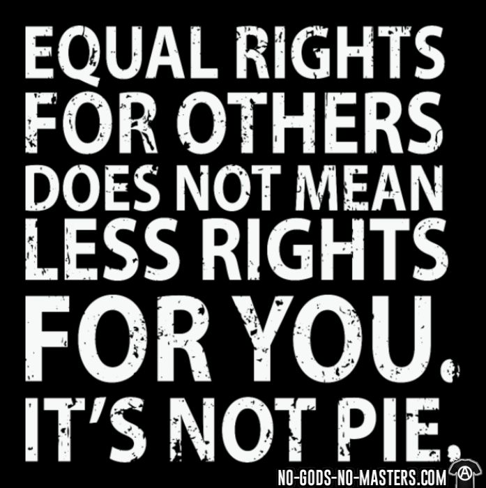 Equal rights for others does not mean less rights for you. It's not pie. - Black Lives Matter T-shirt