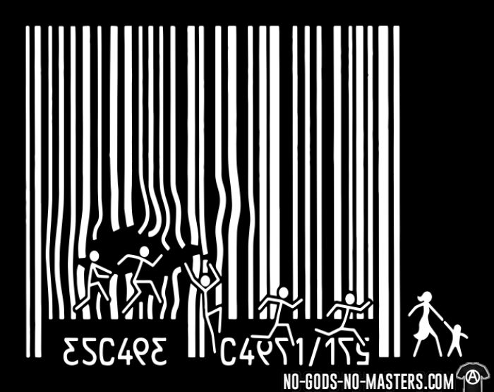 Escape Capitalism - T-shirt Militant