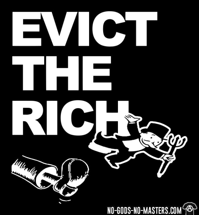 Evict the rich - T-shirt Working Class