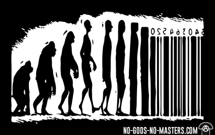 Evolution barcode - T-shirt Militant