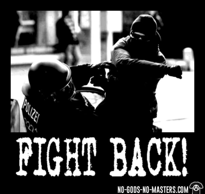 Fight back! - T-shirt ACAB anti-violence-policiere