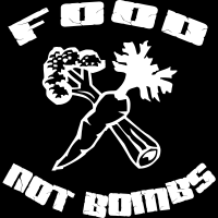 Food not bombs - T-shirt anti-guerre