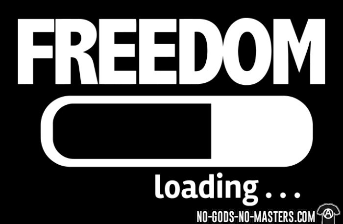 Freedom loading - T-shirt humour engagé