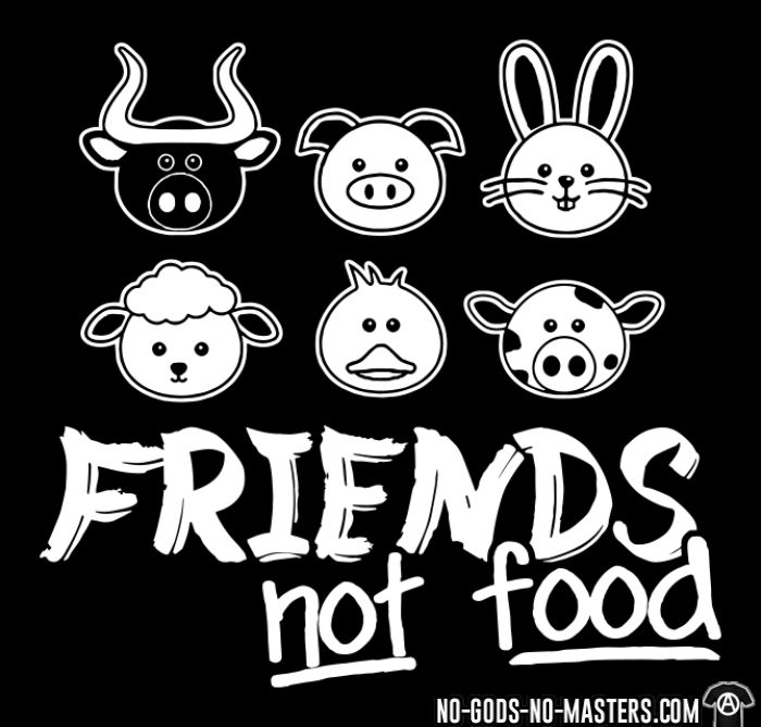 Friends not food - T-shirt féminin véganes et libération animale