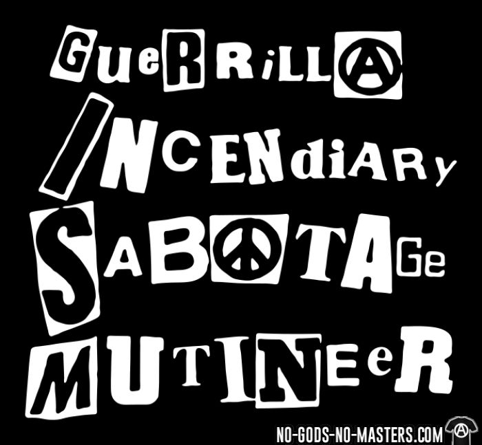 G.I.S.M. - Guerrilla Incendiary Sabotage Mutineer - T-shirt Band Merch