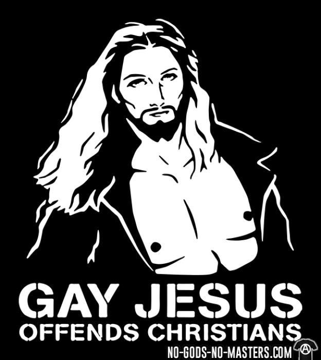 Gay Jesus offends christians - T-shirt Athé