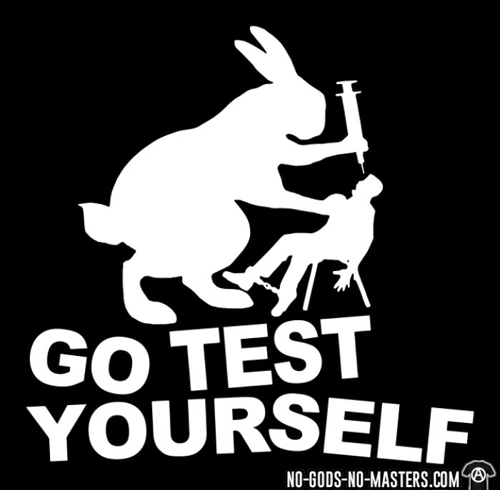 Go test yourself  - T-shirt véganes et libération animale