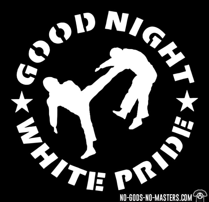 Good night white pride - T-shirts pour enfant Anti-Fasciste