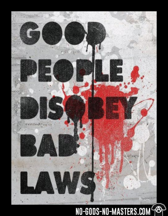 Good people disobey bad laws - T-shirts pour enfant Militant