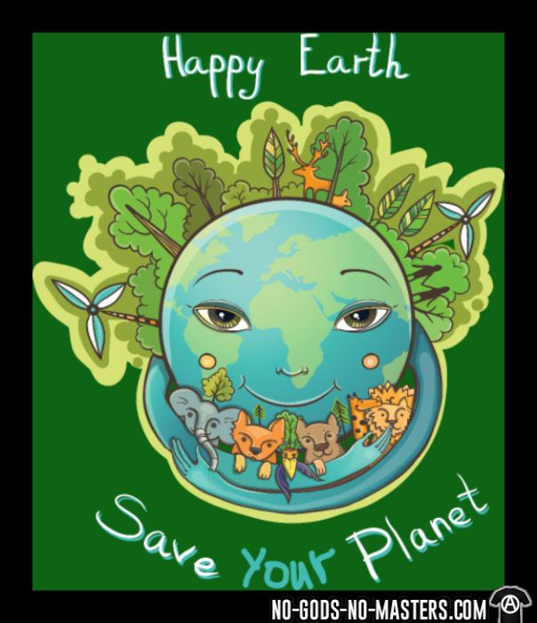 Happy earth save your planet - T-shirt Environnementaliste