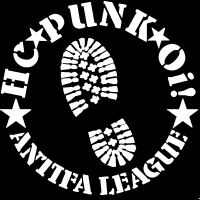 HC punk oi! Antifa league - T-shirt Punk