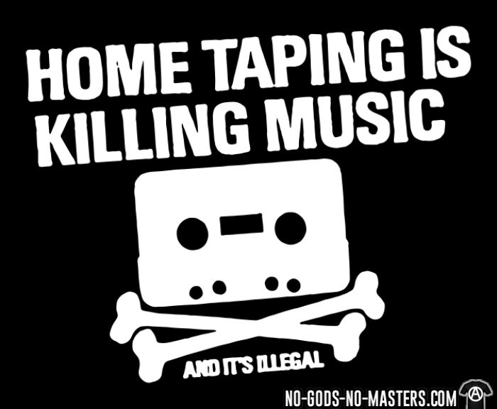 Home taping is killing music and it's illegal - Débardeur pour femme humour engagé
