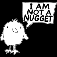 I am not a nugget - T-shirt véganes et libération animale