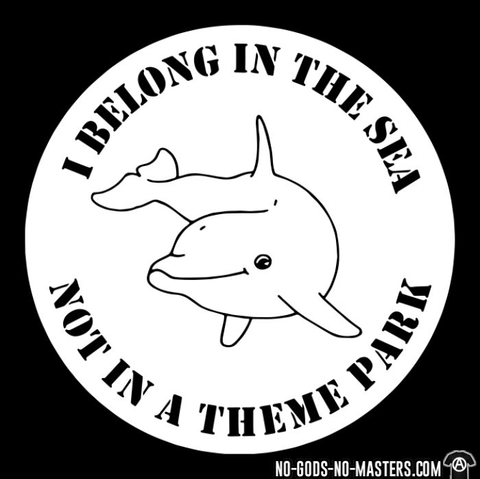 I belong in the sea not in a theme park  - T-shirt véganes et libération animale