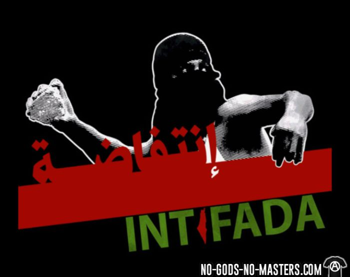 Intifada Palestine - T-shirt anti-guerre