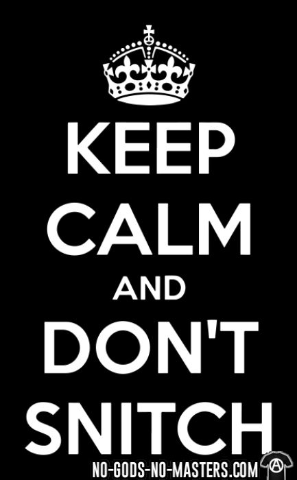 Keep calm and don't snitch - T-shirts pour enfant ACAB anti-flic