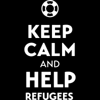 Keep calm and help refugees - T-shirt anti-guerre