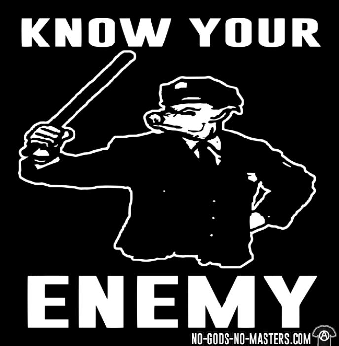 Know your enemy - T-shirt ACAB anti-flic