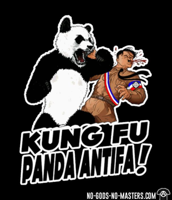 Kung fu panda antifa! - T-shirt Anti-Fasciste