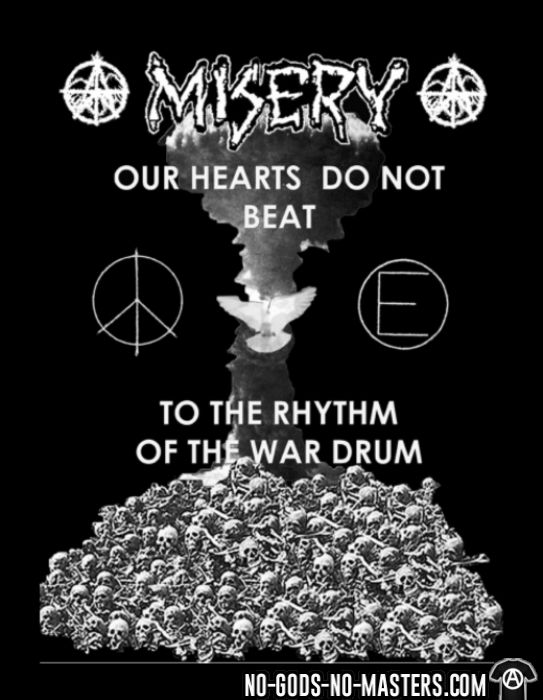 Misery - Our hearts do not beat to the rhythm of the war drum - Chandails à manches longues Band Merch