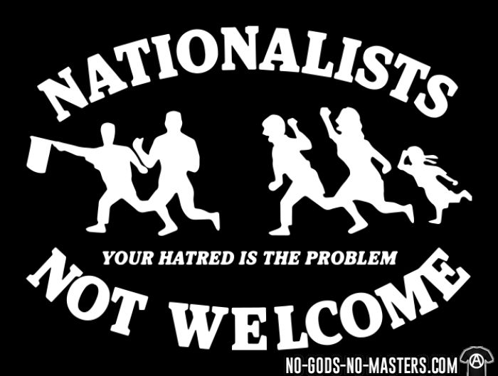 Nationalists not welcome. Your hatred is the problem - Chandails à manches longues Anti-Fasciste