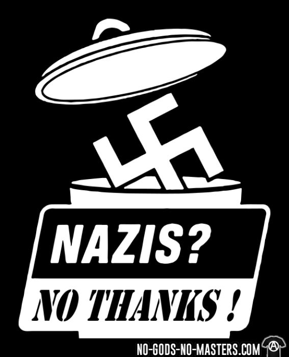 Nazis? no thanks! - T-shirt Anti-Fasciste