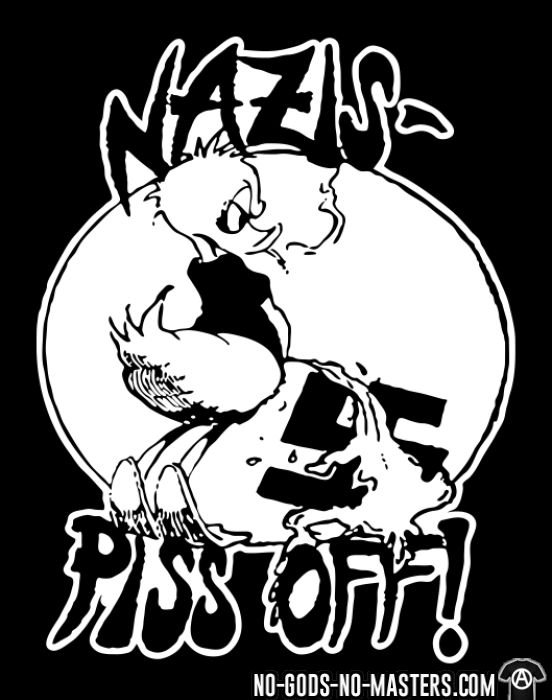 Nazis piss off! - T-shirt Anti-Fasciste