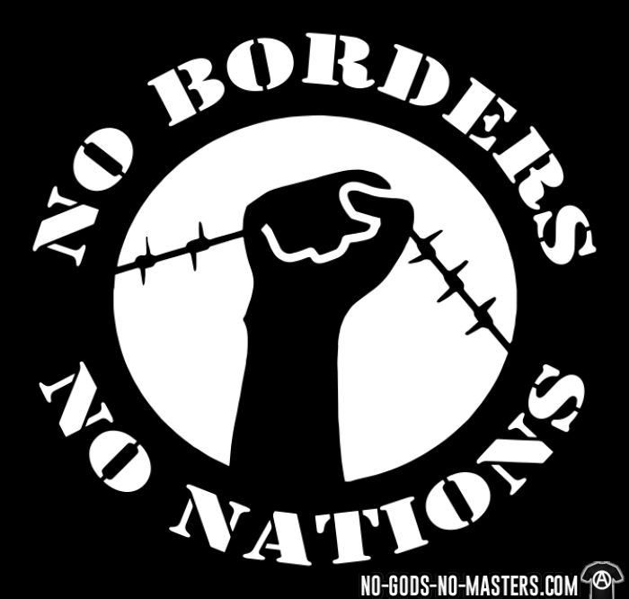 No borders no nations - Chandails à manches longues Militant