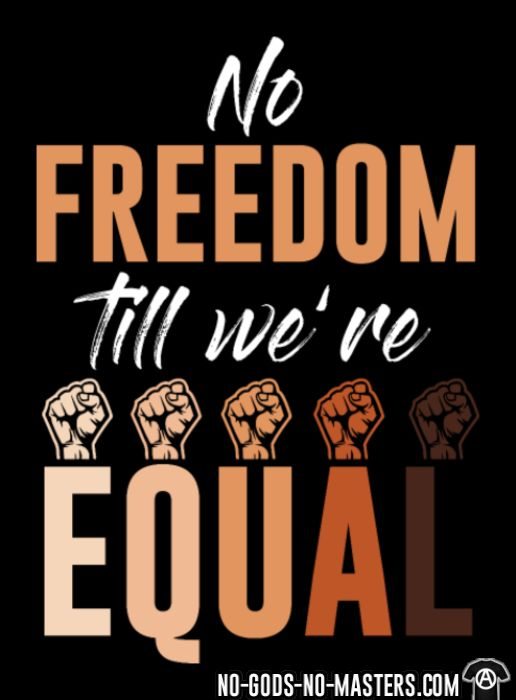 No freedom till we're equal - Chandails à manches longues Anti-Fasciste
