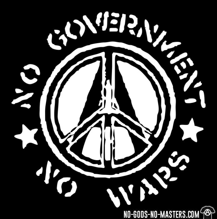 No government no wars - T-shirt anti-guerre