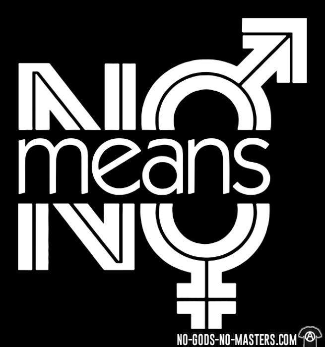 No means no - T-shirt Féministe