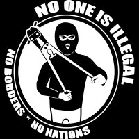No one is illegal. No borders, no nations. - T-shirt Anti-Fasciste