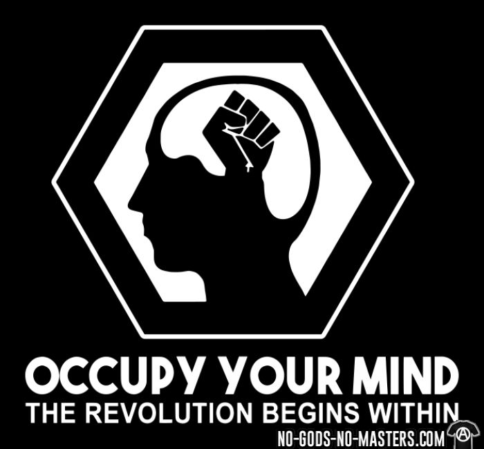 Occupy your mind. The revolution begins within - T-shirt Anonymous