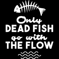 Only dead fish go with the flow - Sweat zippé Militant