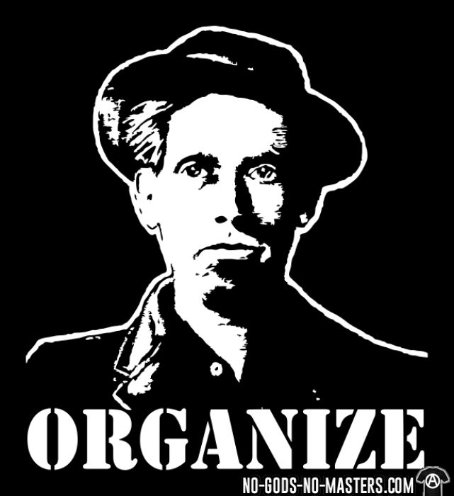 Organize (Joe Hill) - T-shirt imprimé au dos Working Class