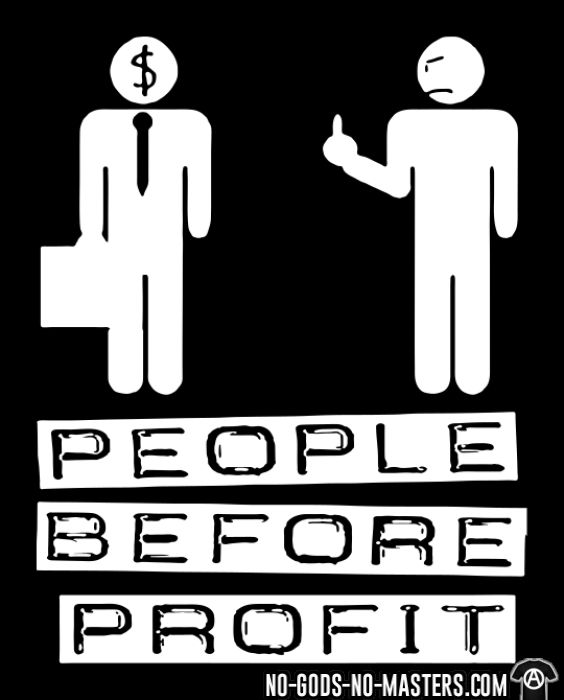People before profit - T-shirt Militant