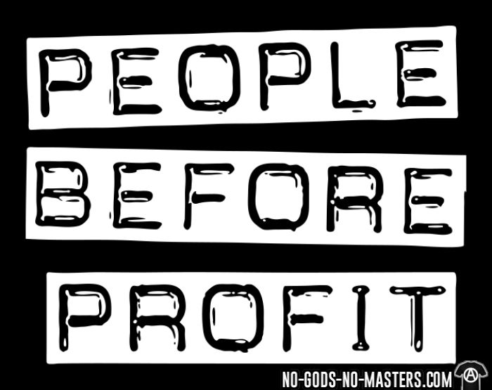 People before profit - Chandails à manches longues Militant